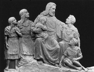 Christ Blessing the Children sculpt by Avard Fairbanks
