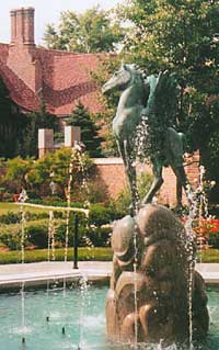 Fairbanks Pegasus Fountain